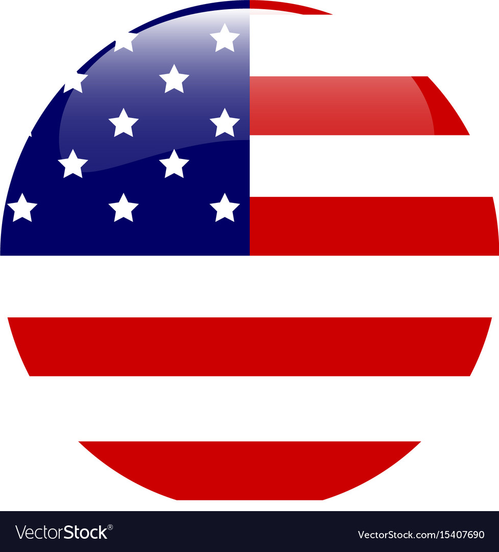 usa flag of american bubble royalty free vector image