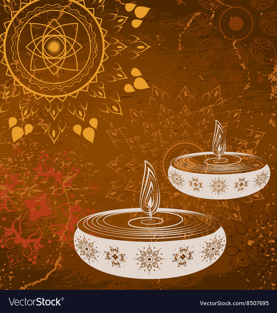 Brown Diwali Design