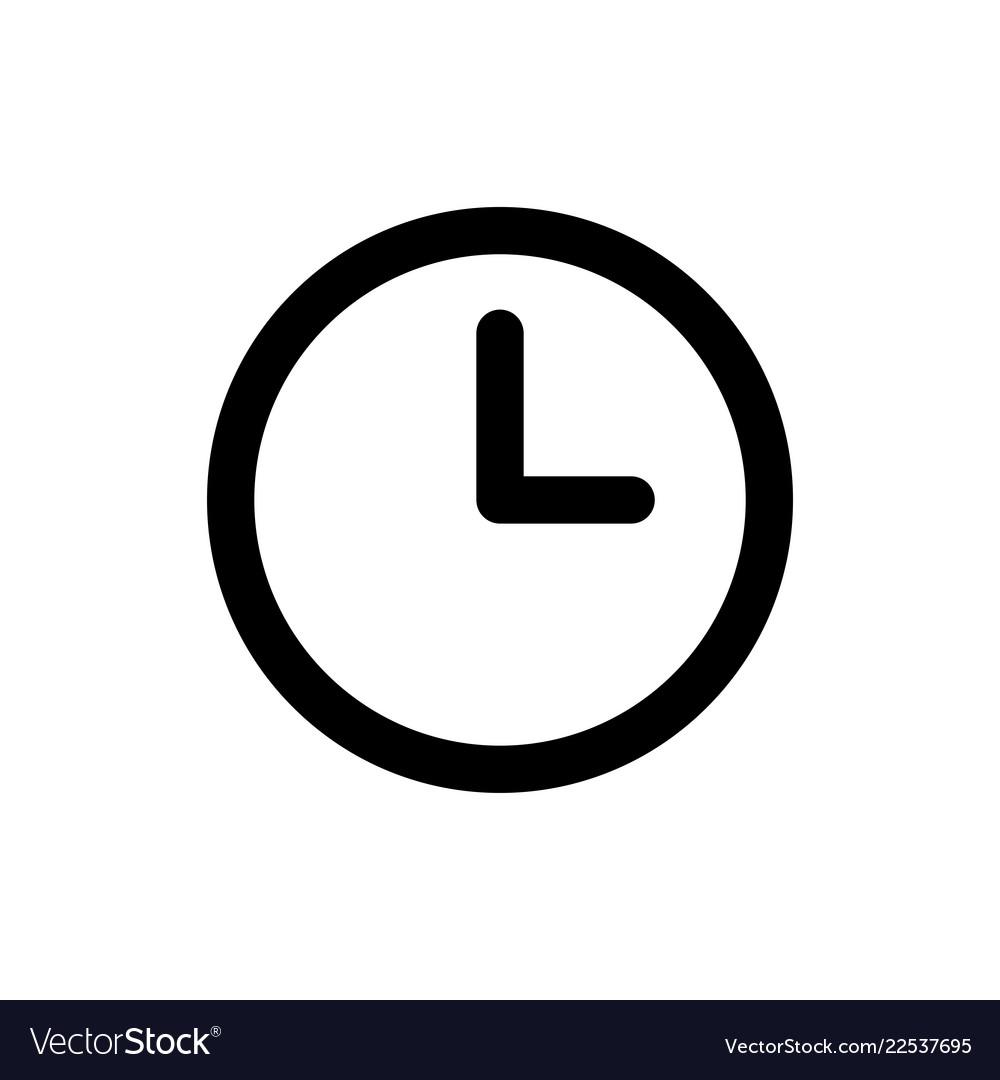 Clock icon time symbol