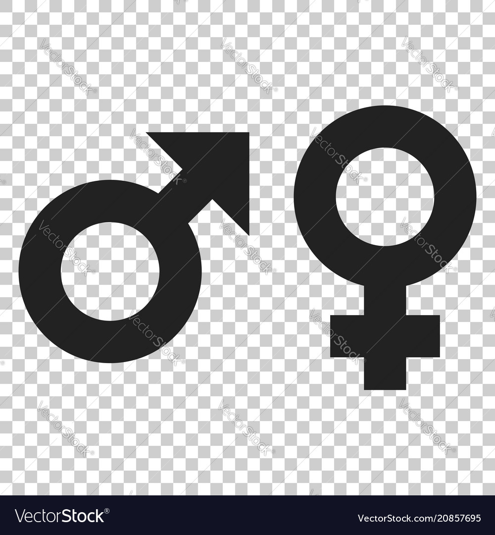 Gender male and female sign icon men and women vector image