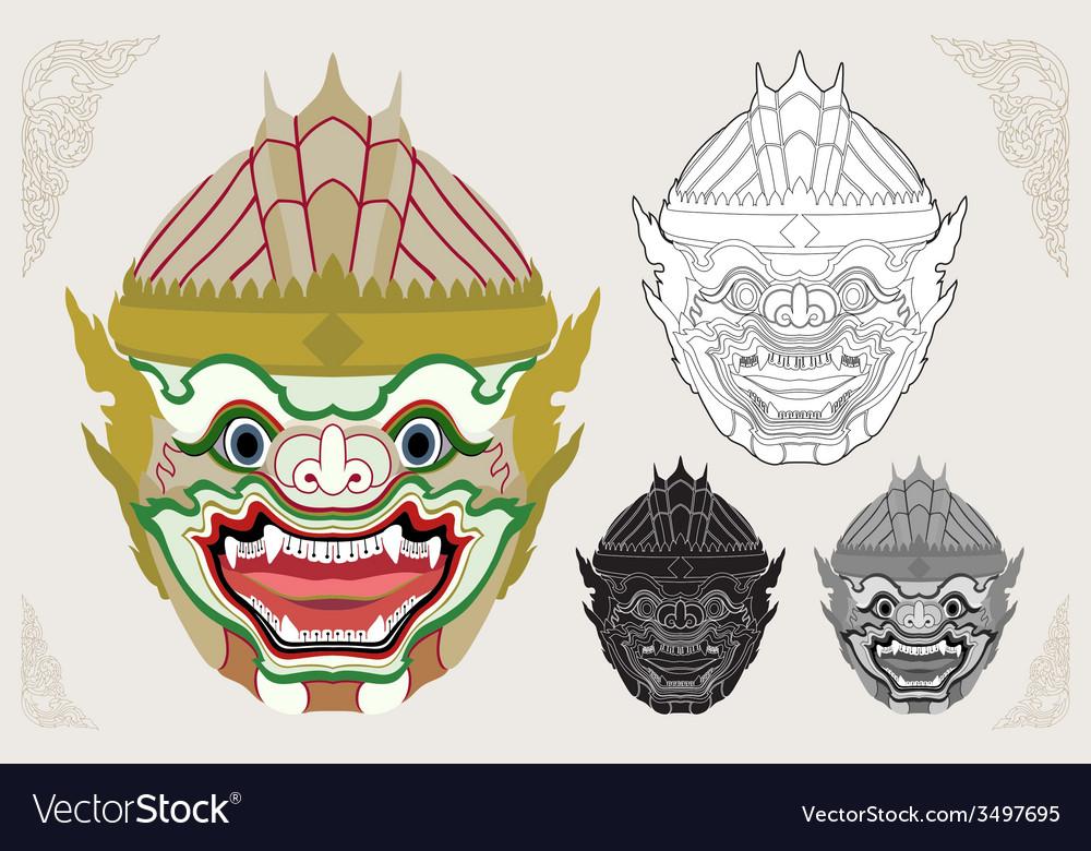 Hanuman head