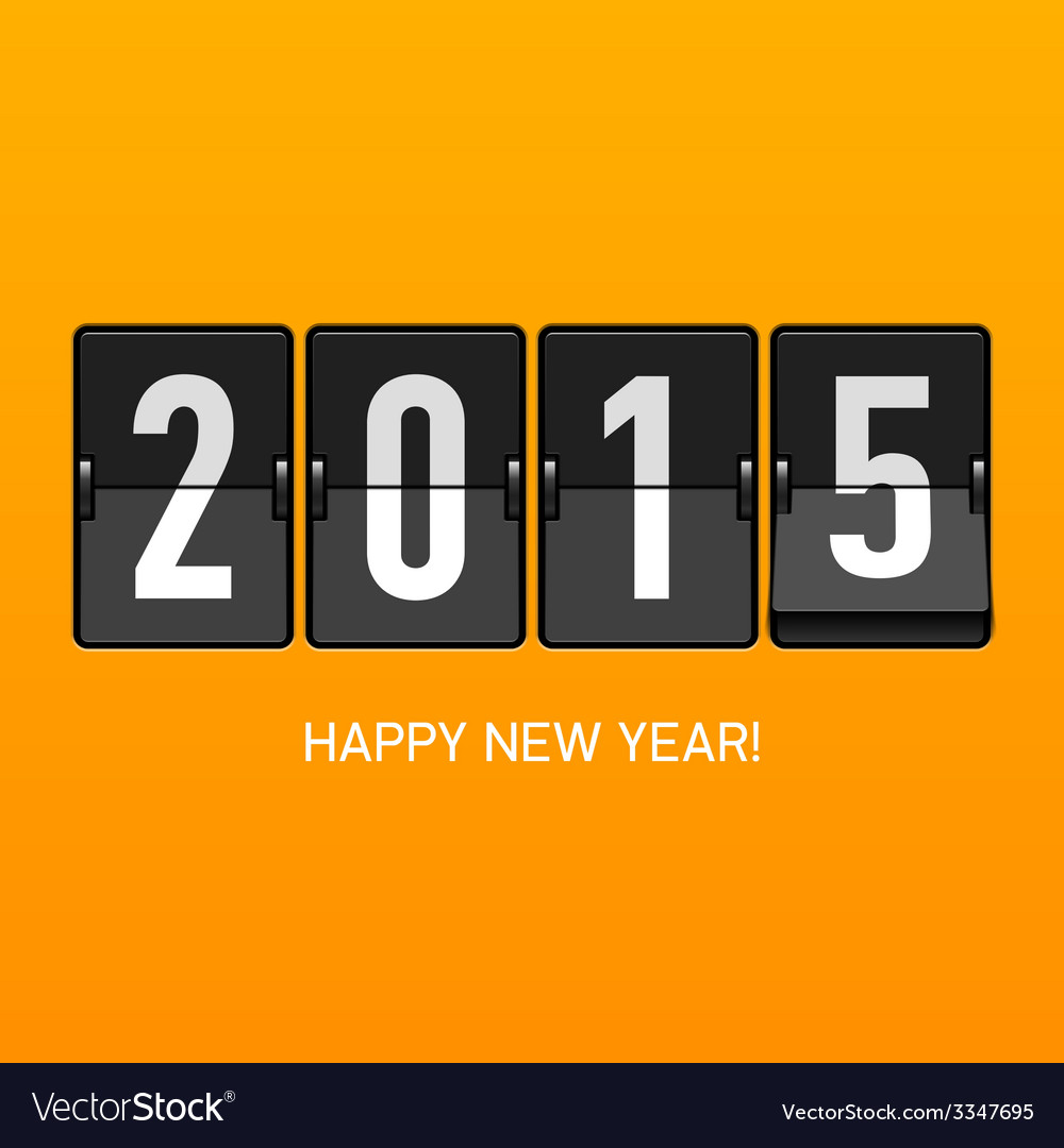 Happy New Year 2015 card