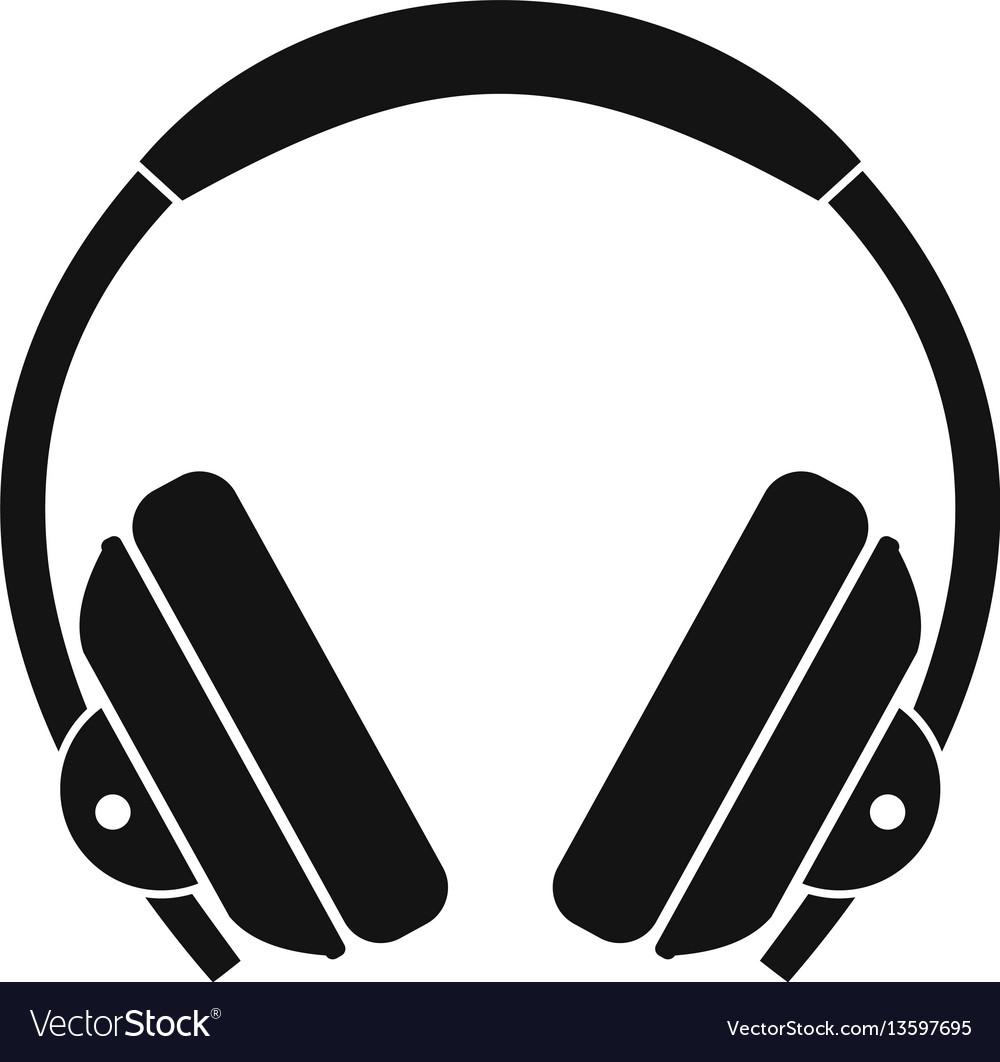 Headphone icon simple style