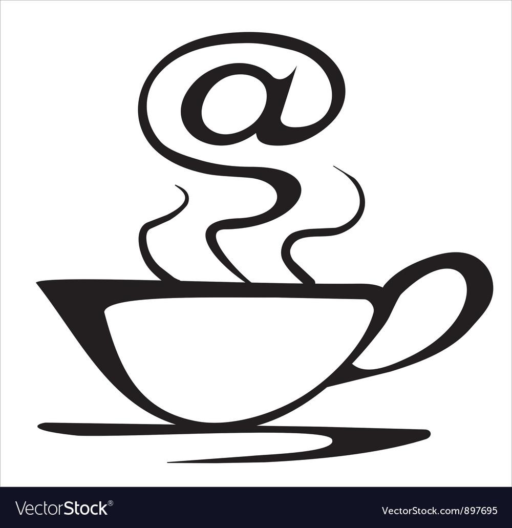 Internet cafe symbol vector image