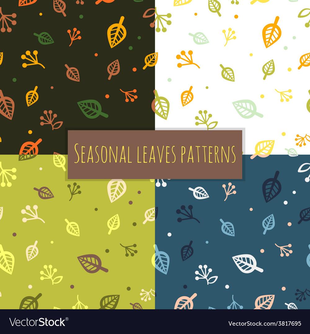 Leaves pattern 4 seasons
