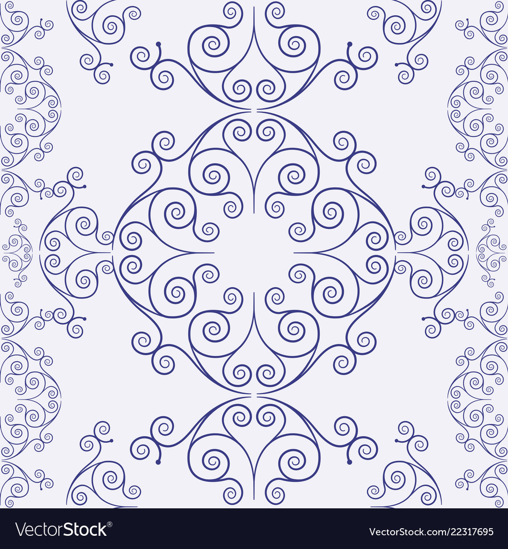 Ornamental seamless vintage pattern