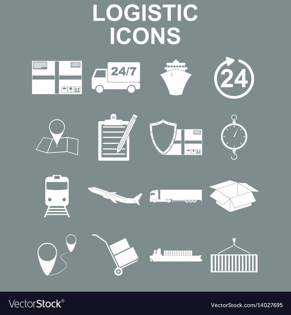 Simple logistics icons set