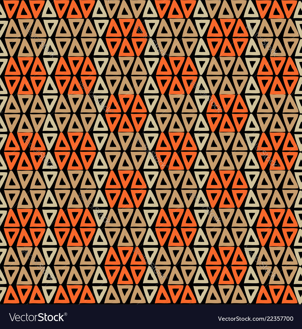 Abstract tribal boho art seamless pattern design