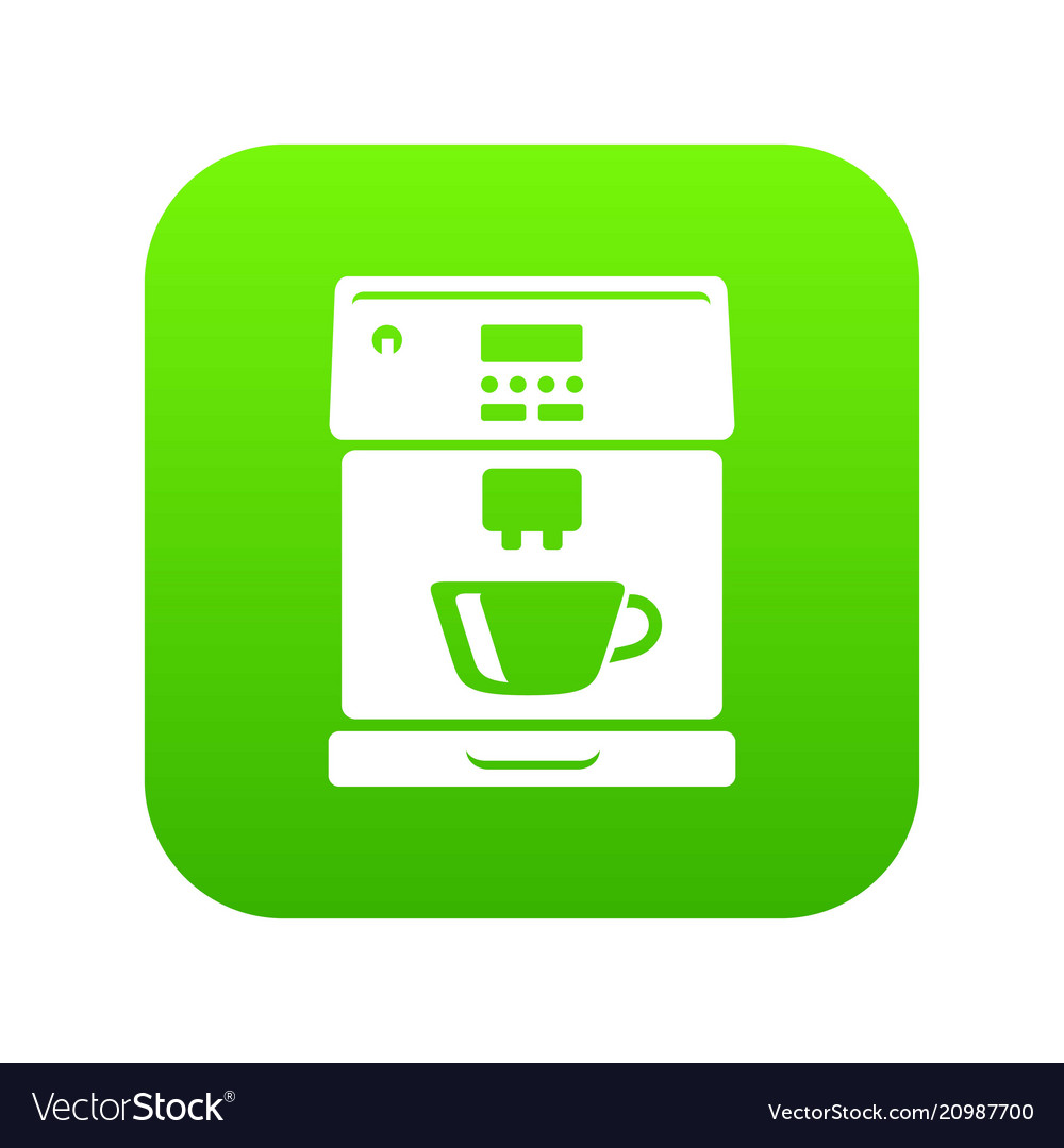 Coffee machine icon green
