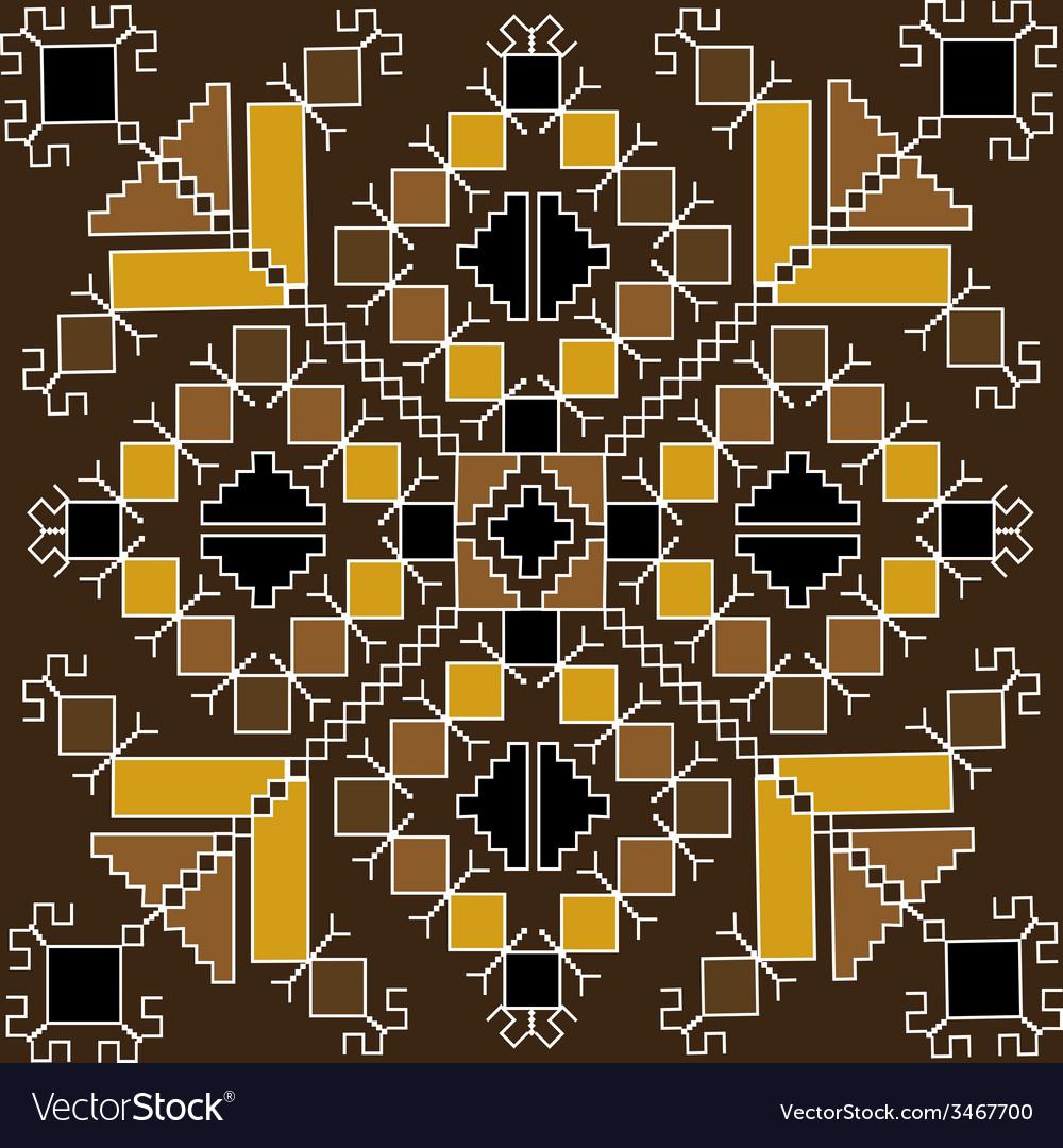 Ethnic motif in brown tones