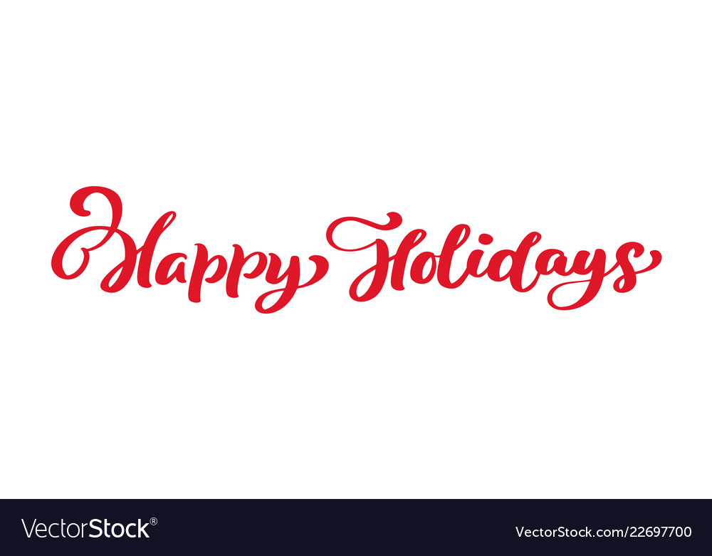 Happy holidays red vintage merry christmas