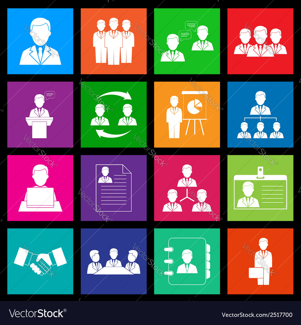 Human resources and management icon series in