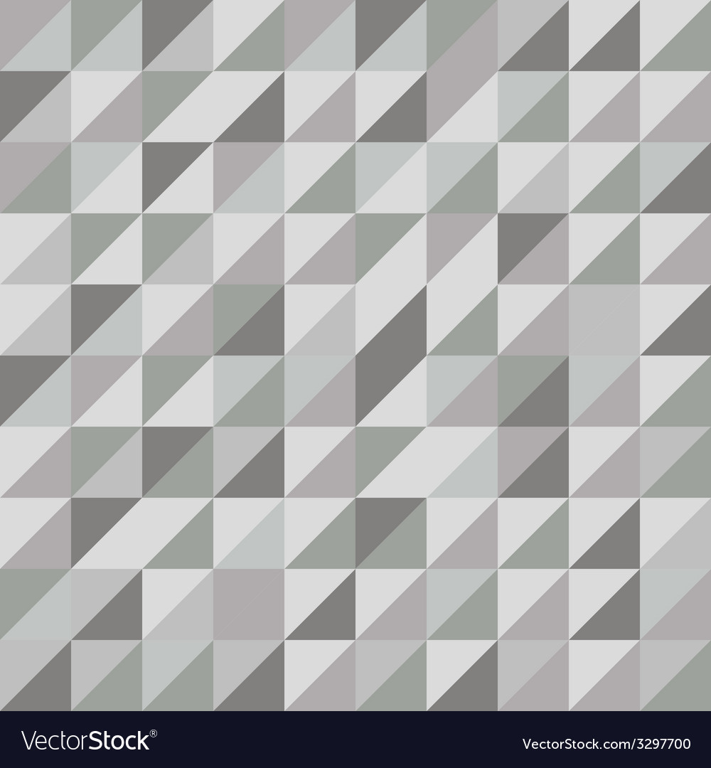 Retro triangle pattern with gray background