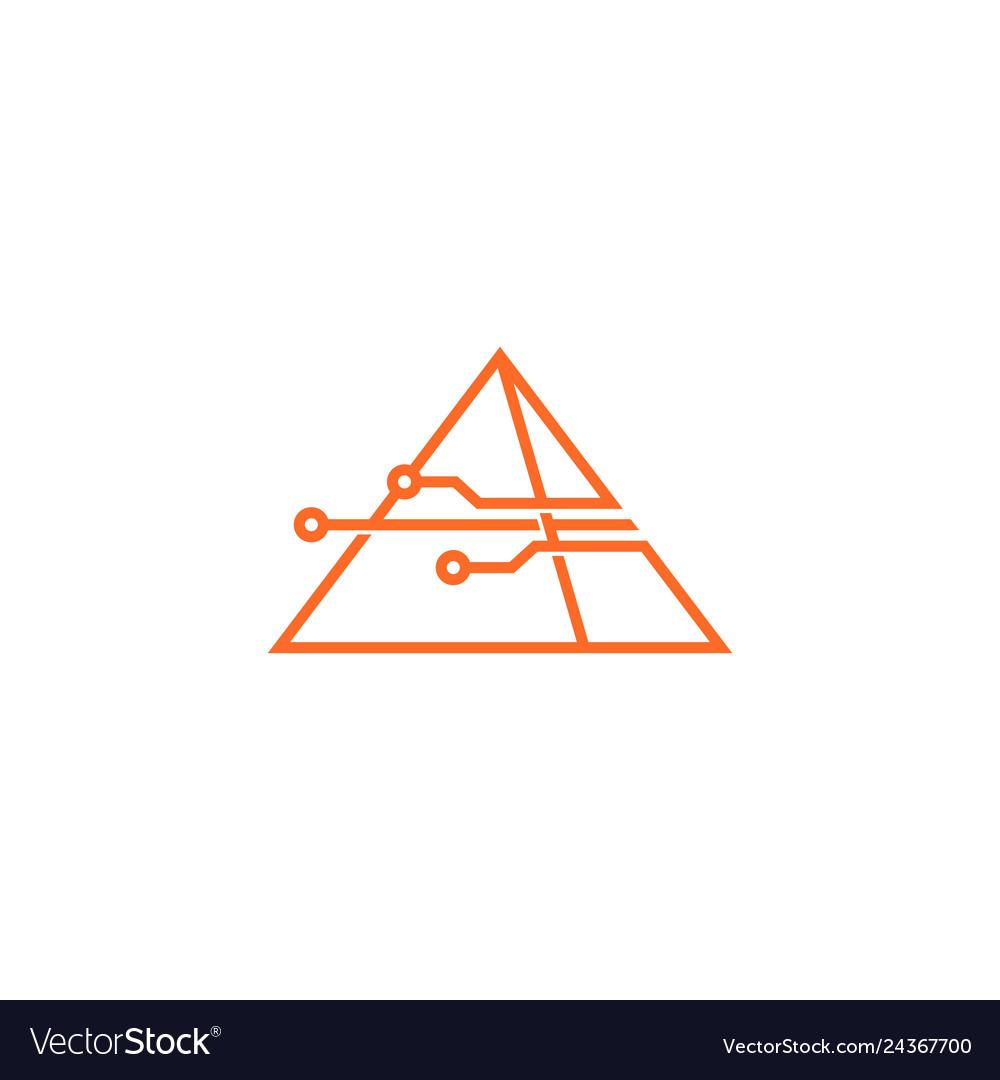 Smart pyramid tech logo icon