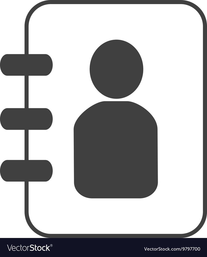 Telephone directory design vector image