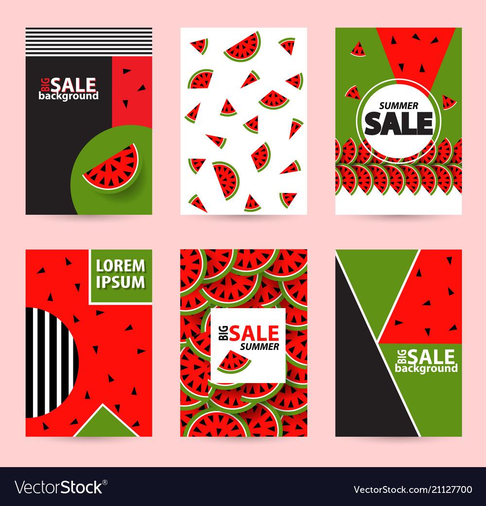 Trendy memphis style watermelon geometric pattern