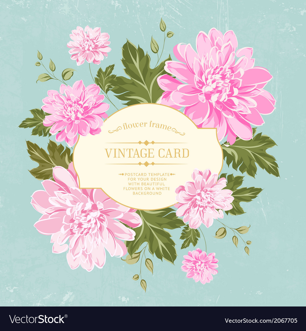 Beautiful card with a wreath of different color vector image izmirmasajfo
