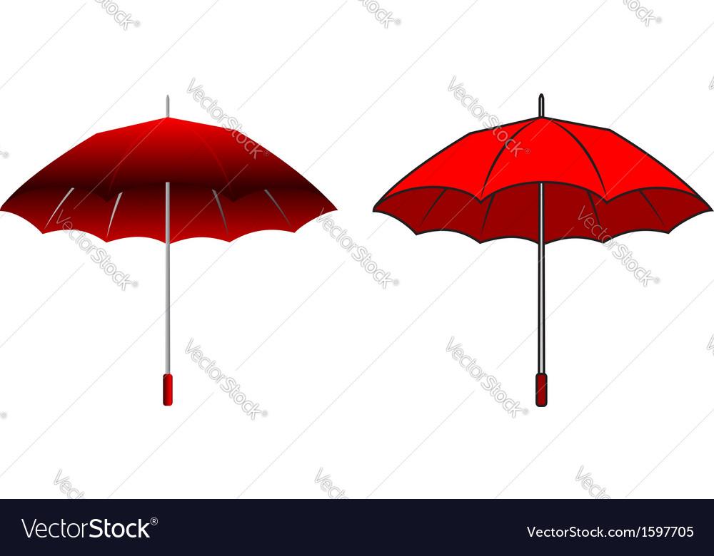 Cartoon red umbrella vector image