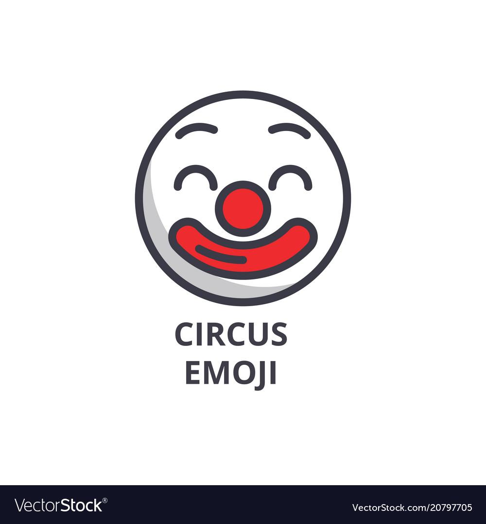 Circus emoji line icon sign