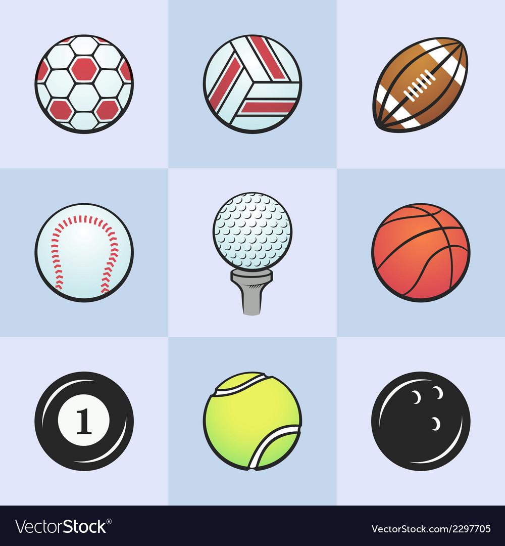 Colored sport balls