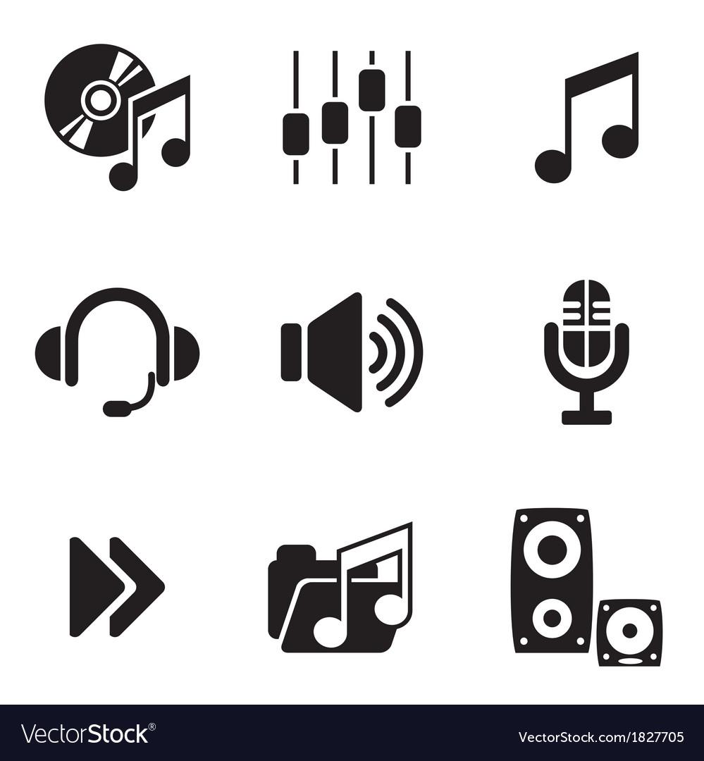 Computer audio icons