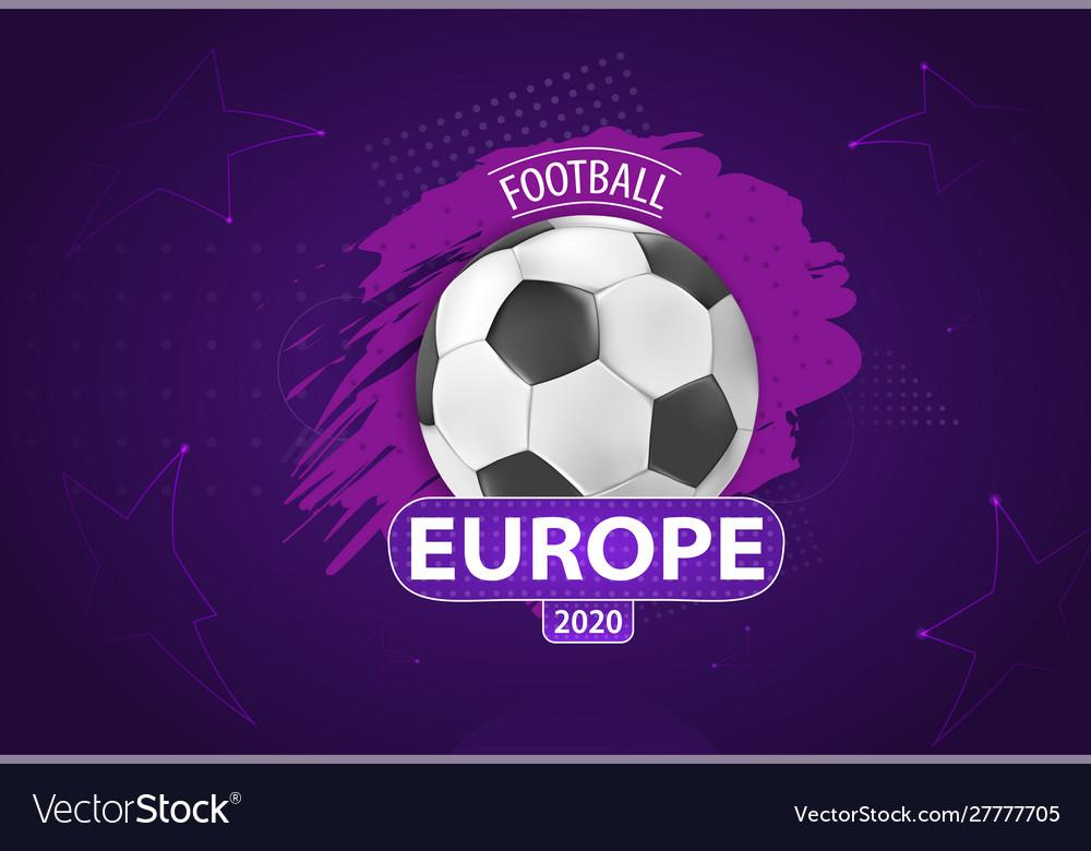European 2020 cup football
