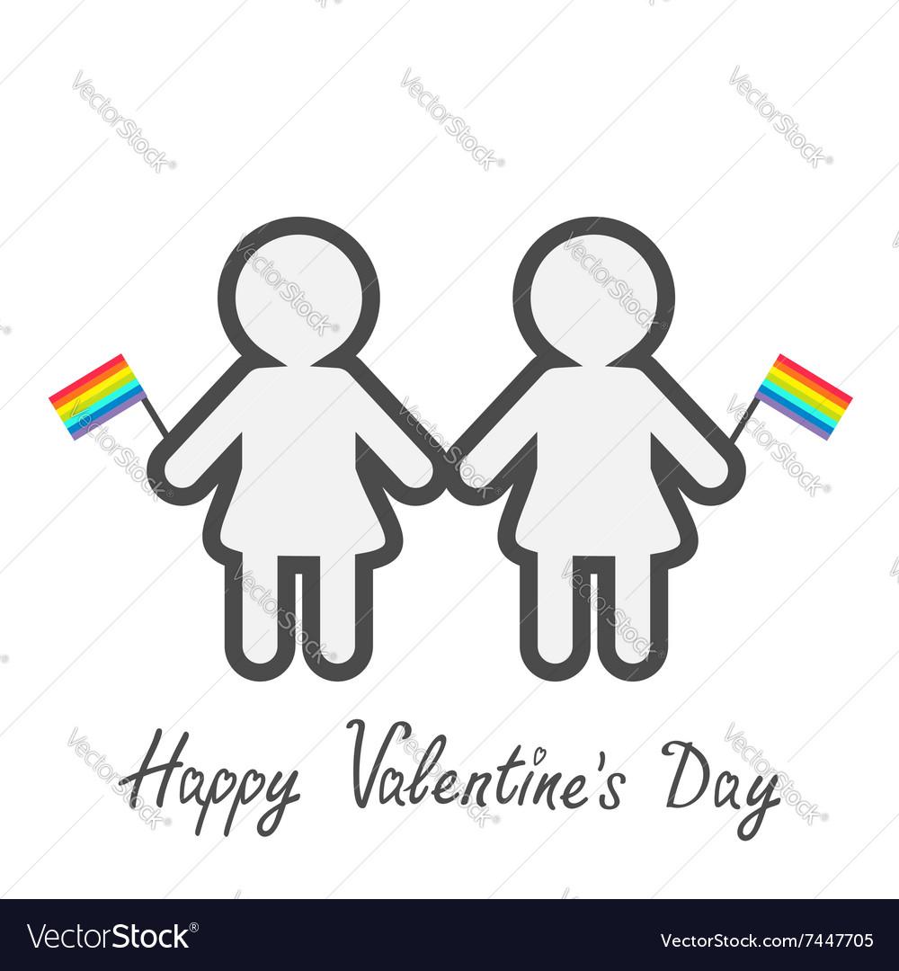 Happy Valentines Day Love card Gay marriage Pride