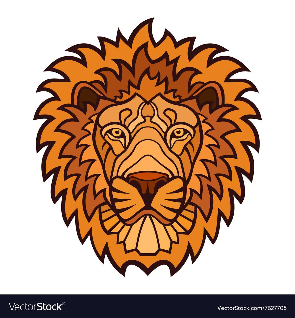 Lion head color mascot