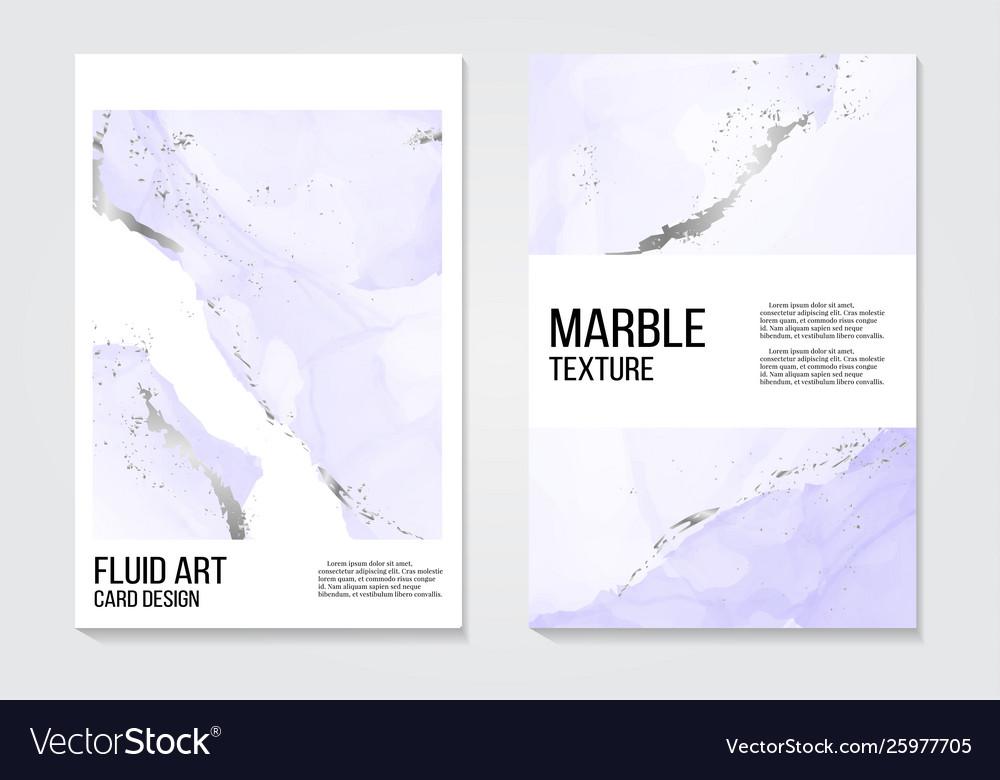 Marble alcohol ink splash card watercolor tender