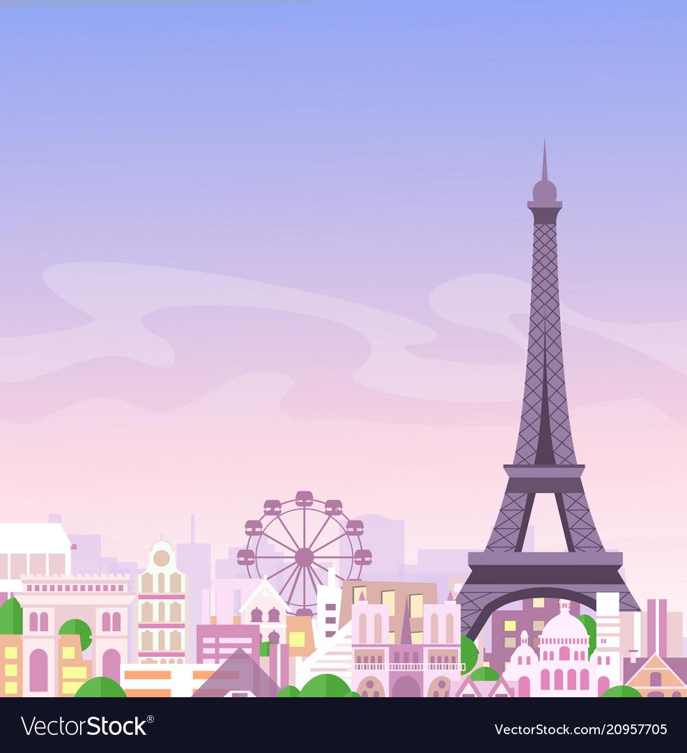 Romantic paris view france