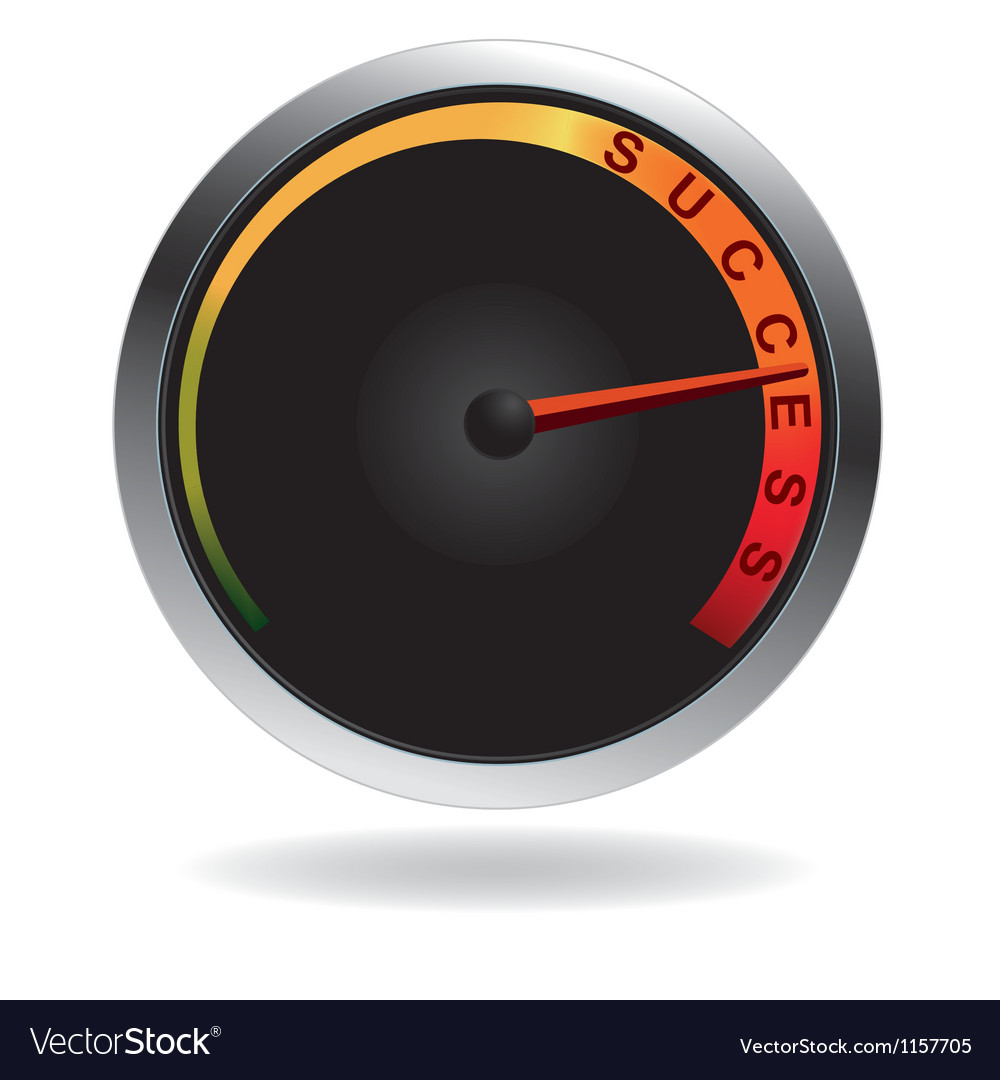 Speedometer with red needle vector image