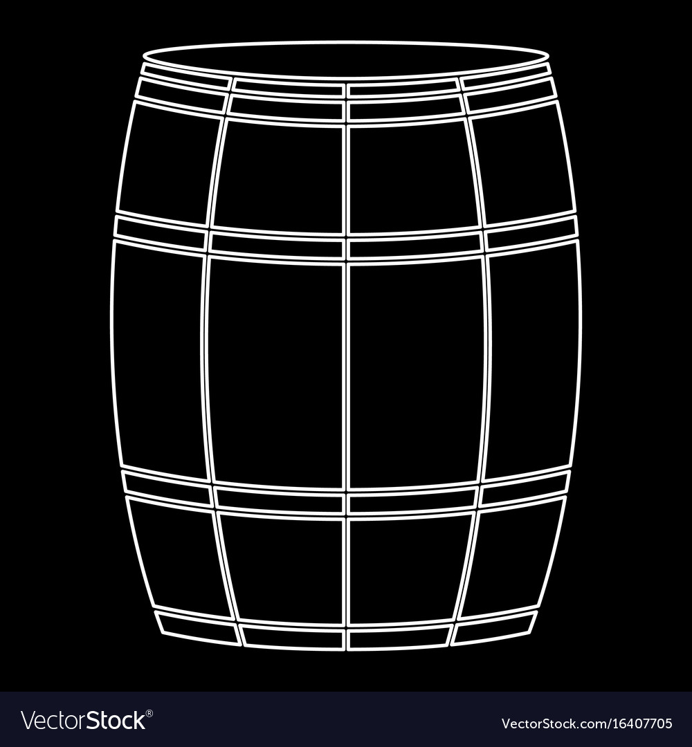 Wine or beer barrels white color path icon vector image