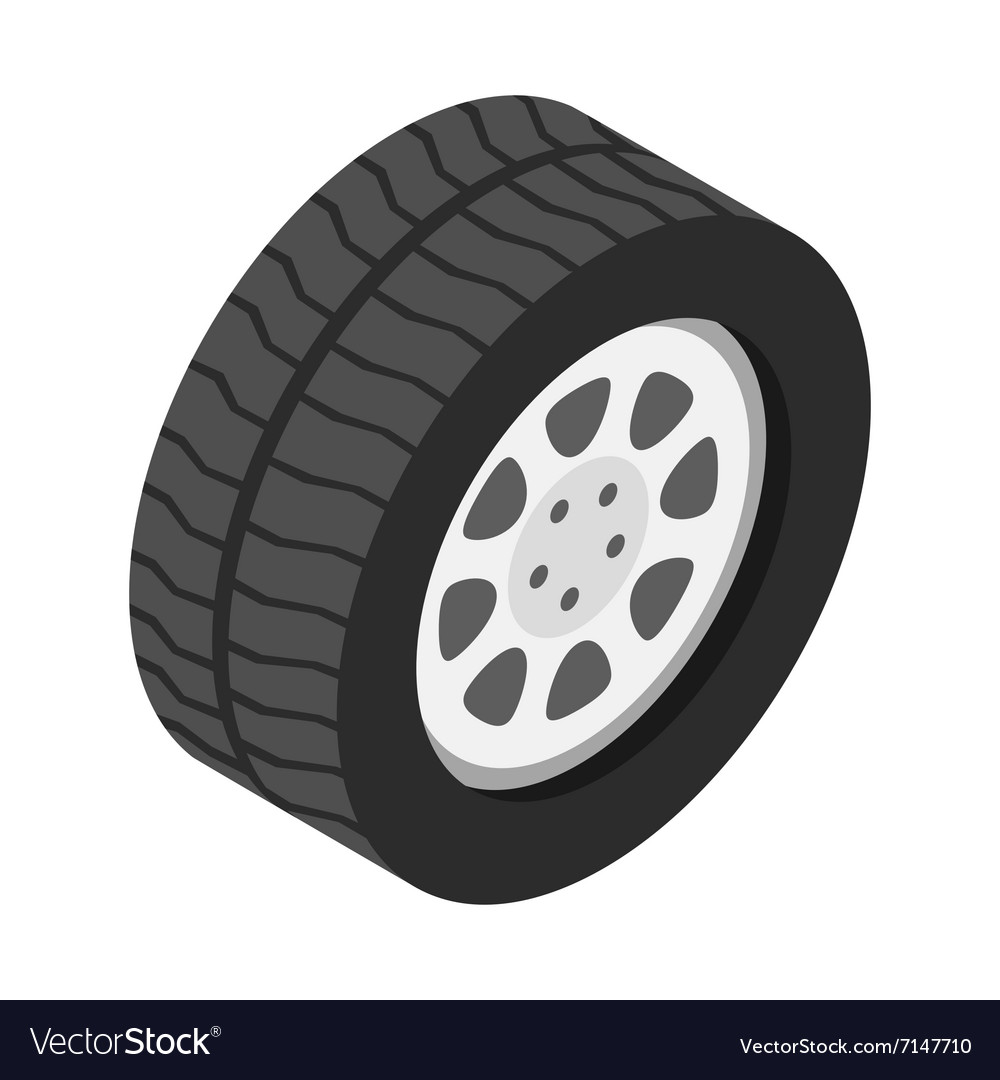 3aceeadfd0fe87 Car wheel isometric 3d icon Royalty Free Vector Image