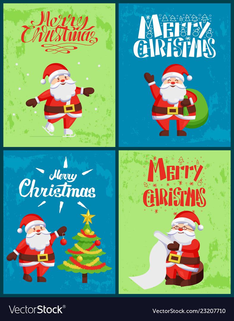 Merry christmas santa claus wintertime adventures