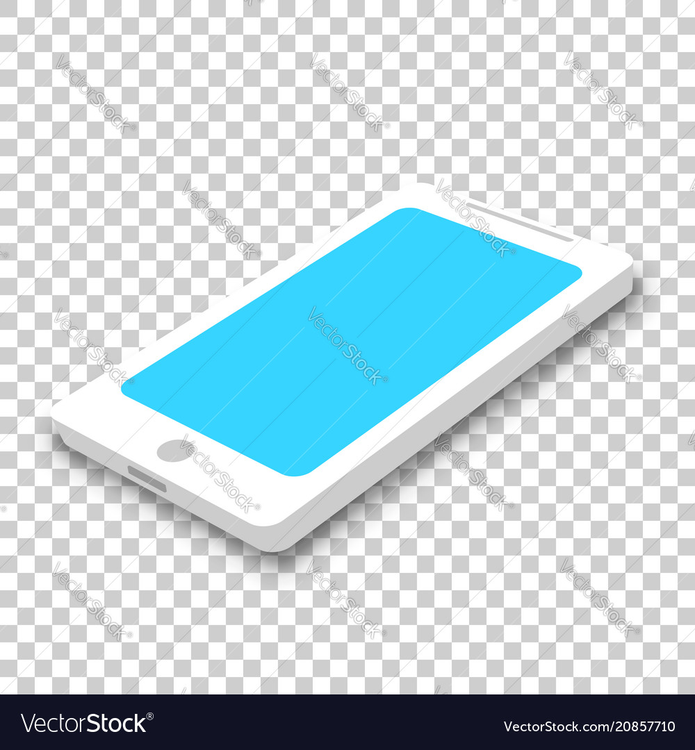 Phone icon in isometric style smartphone on