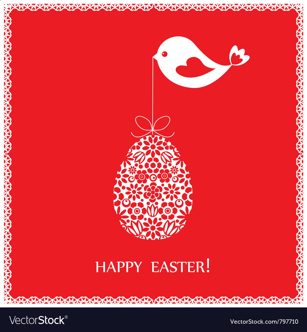 Red greeting card vector image