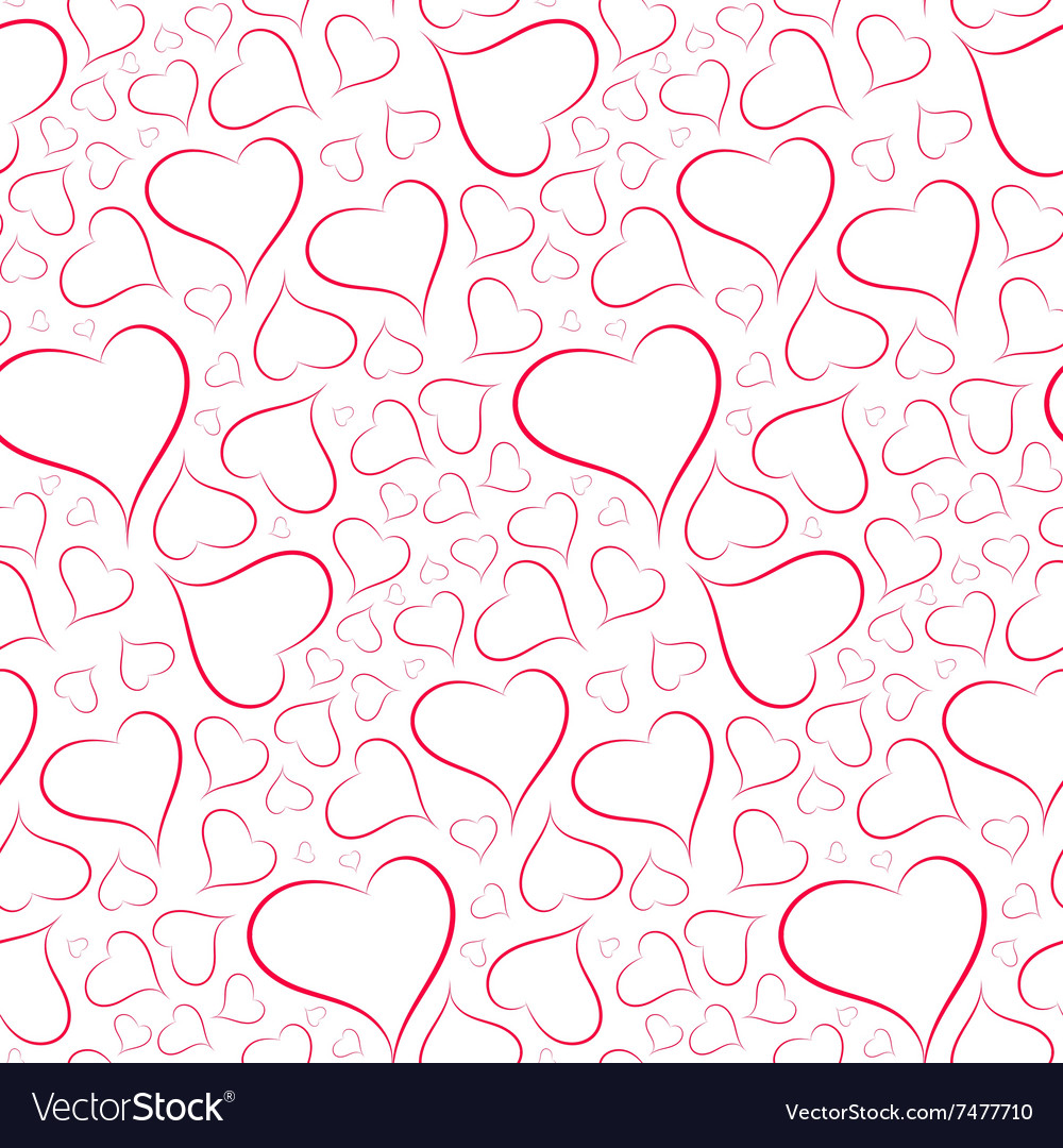 Romantic and sexy background of hearts seamless