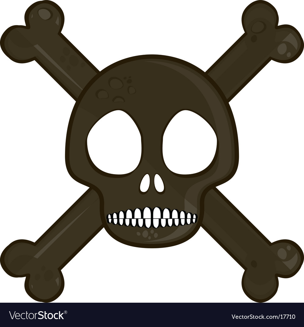 Simple skull vector image