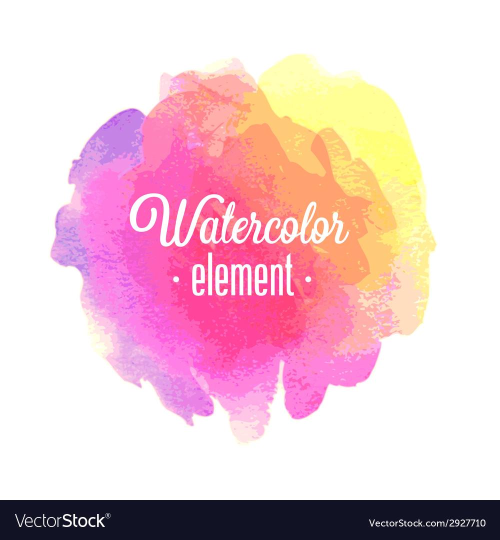 Watercolor element