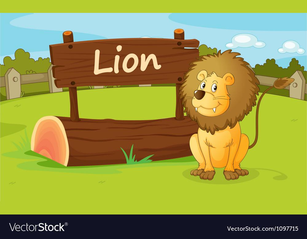 A lion vector image