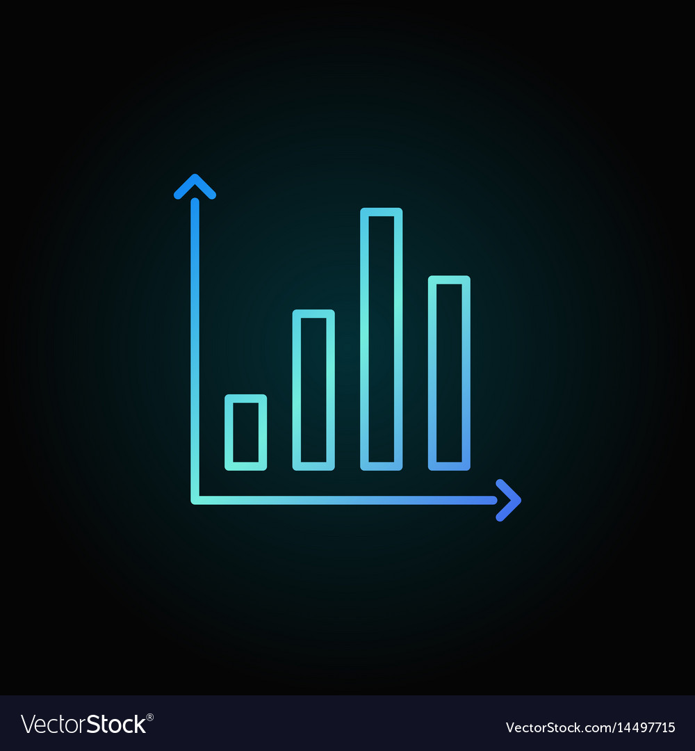 Bar chart colorful icon