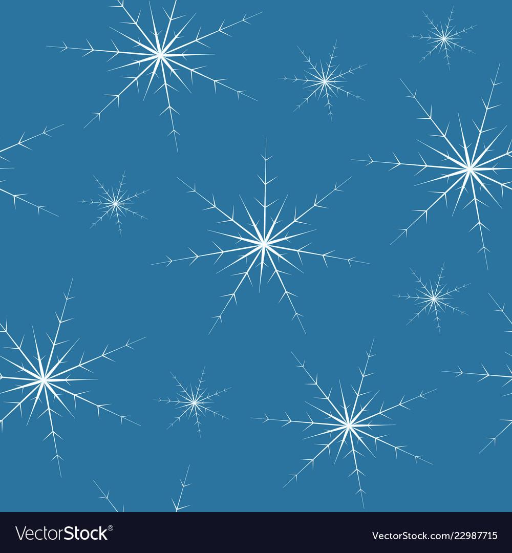 Beautiful white snowflake seamless pattern on