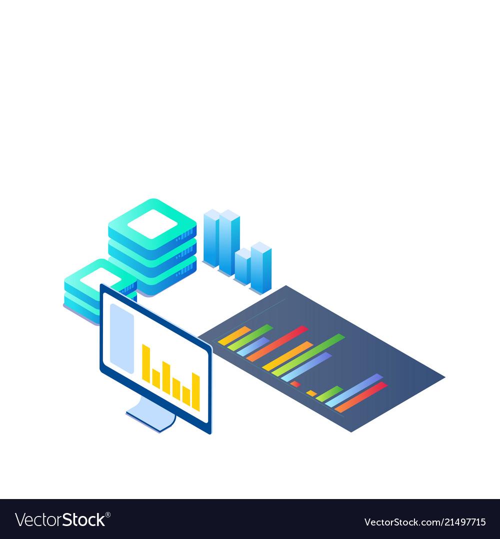 Blockchain digital science server room concept bac