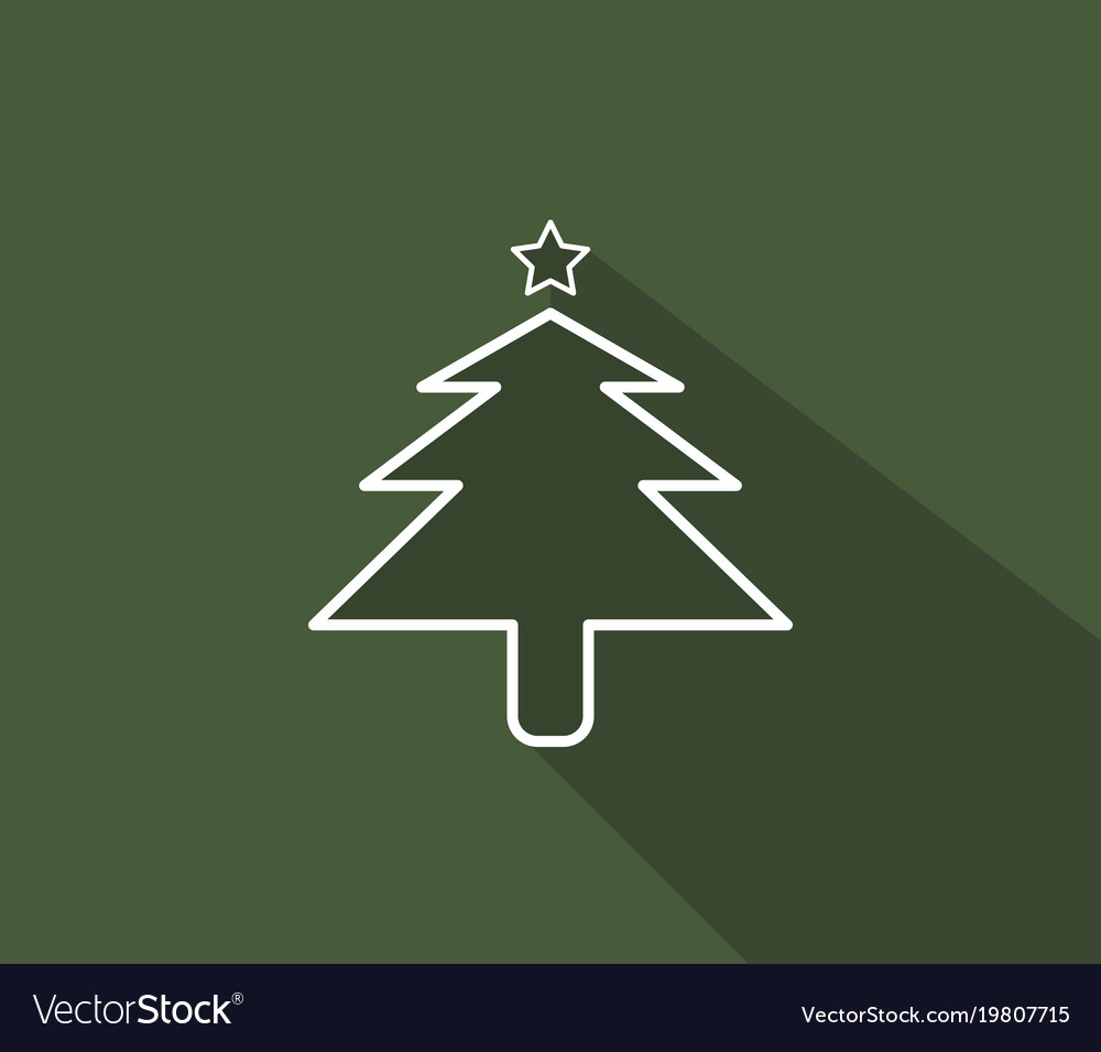 Christmas tree icon on white background