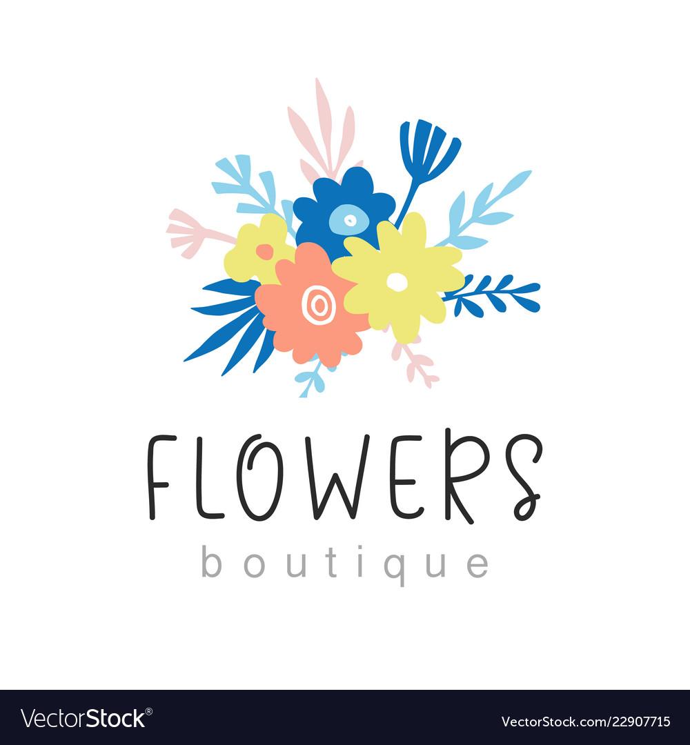 Flowers Boutique Logo Design