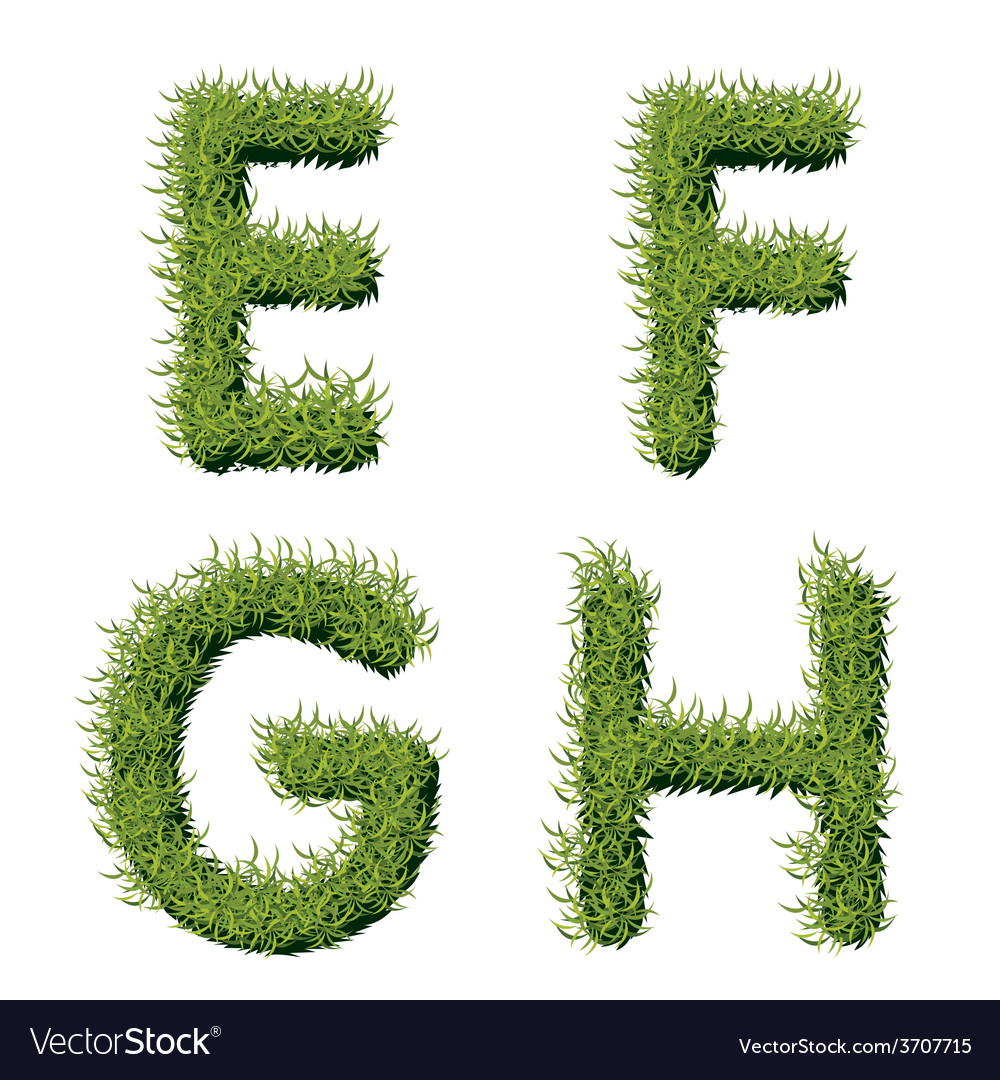 Green Grass Alphabet E F G H