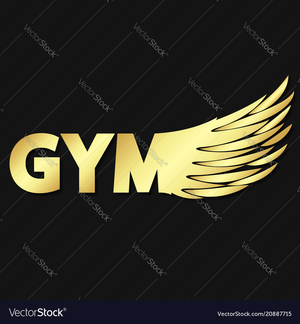 Gym and wing symbol