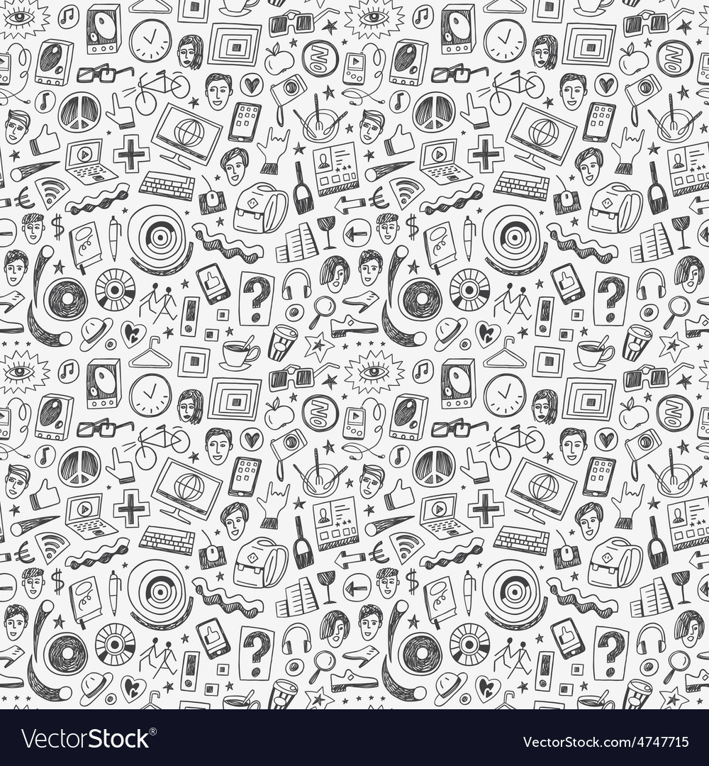 Hipsters seamless background