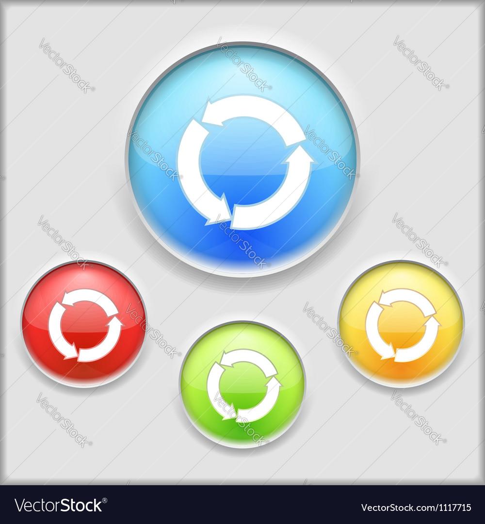Icon of circular arrows vector image