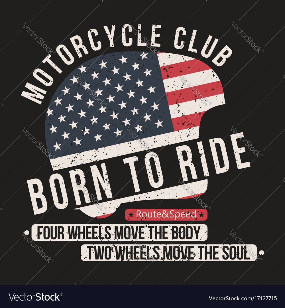 Motorcycle t-shirt graphics helmet with usa flag